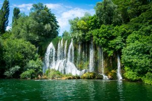 Samen met Skradinski Buk is de Roski-waterval
